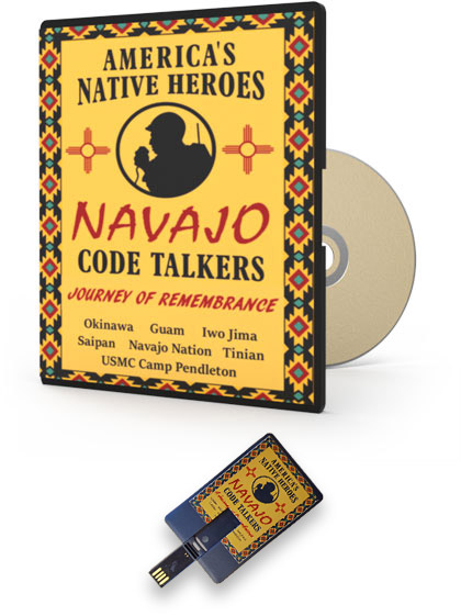 Navajo Code Talkers documentary on DVD and USB